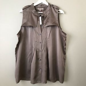 Banana Republic Silk Sleeveless Blouse
